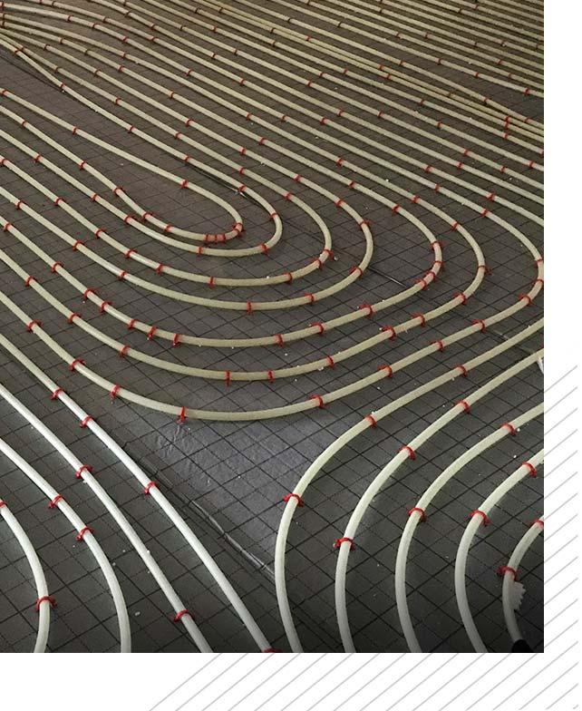 Heizungsinstallation Fußbodenheizung